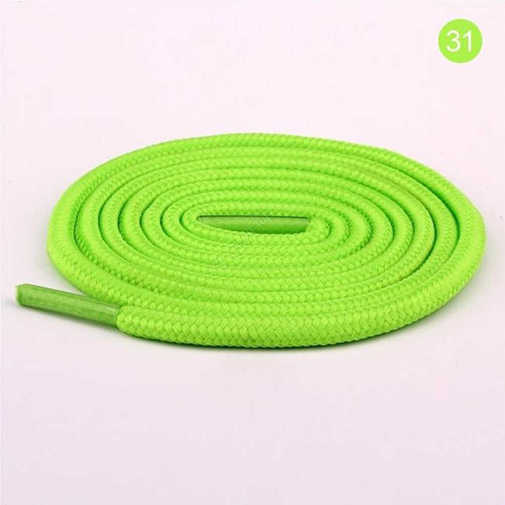 50 cm/100 cm/150 cm/200 cm redondo encerado cordones de zapatos de cuero elástico cuerdas botas cordones de calzado deportivo 26 colores