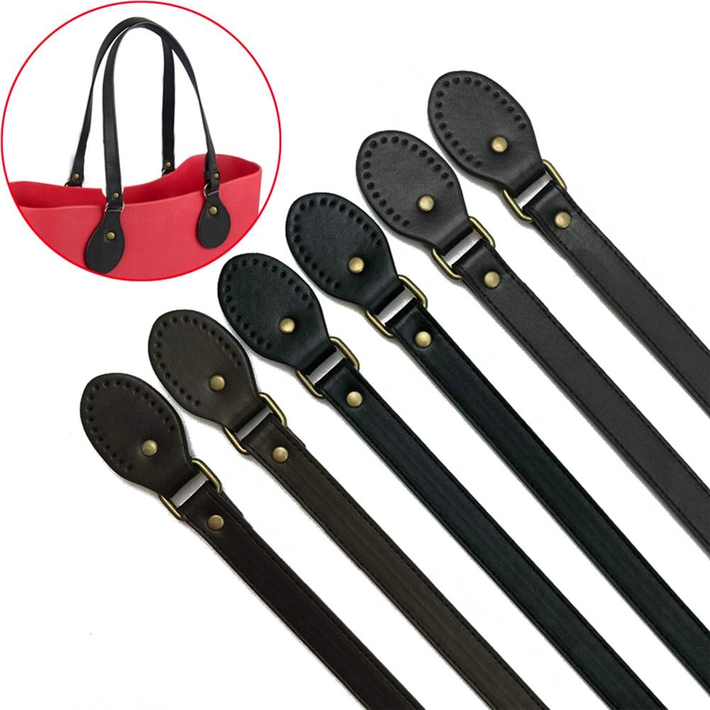 2PCs Bidirectional Adjustable PU Leather Bag Strap Handbags Belt Handle With Drops For Obag Handbag Strap For Bag Accessories