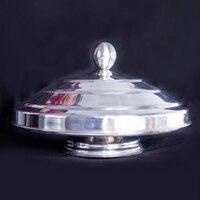 Paslanmaz Çelik Dove Pan (Deluxe) Çift Yük Flaming Dove Pan sihirli hileler sihirli sahne