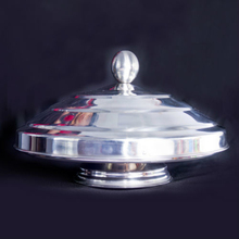 Stainless Steel Dove Pan Deluxe Double Load Dove Pan Flaming magic tricks magic props