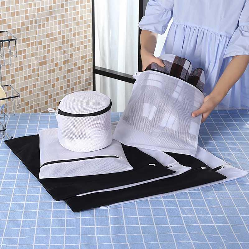 Lavagem De Roupa Sacos de Malha com zíper Dobrável Delicados Lingerie Bra Meias Roupa Interior de Lavar Roupa Máquina de Lavar Roupas de Proteção Net