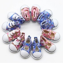 High Quality 5*2.5cm Canvas Shoes For 1/6 BJD Doll Fashion Mini for Russian DIY handmade doll Accessories