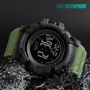 Image 1 - SKMEI S הלם צבאי ספורט שעונים מצפן מד צעדים קלוריות זכר שעון דיגיטלי עמיד למים אלקטרוני שעונים גברים שעוני יד