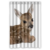 Cute Little Deer Personalized Fabric Shower Curtain 48 W X72 H