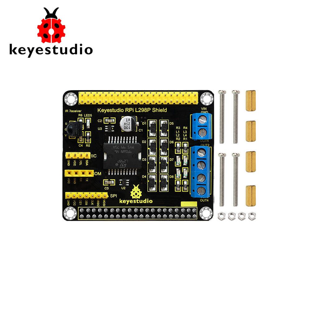 Keyestudio RPI L298P Motor Drive Shield  For Arduino/Raspberry PiKeyestudio RPI L298P Motor Drive Shield  For Arduino/Raspberry Pi