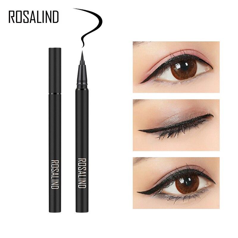 Подводка для глаз ROSALIND, черная Водостойкая Подводка для глаз с блестками для глаз, долговечная косметика, блестящая шариковая ручка, подвод...