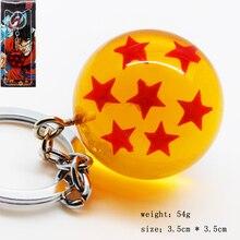 Anime Dragon Ball Z Seven Stars Keychain Pendant Key Chain