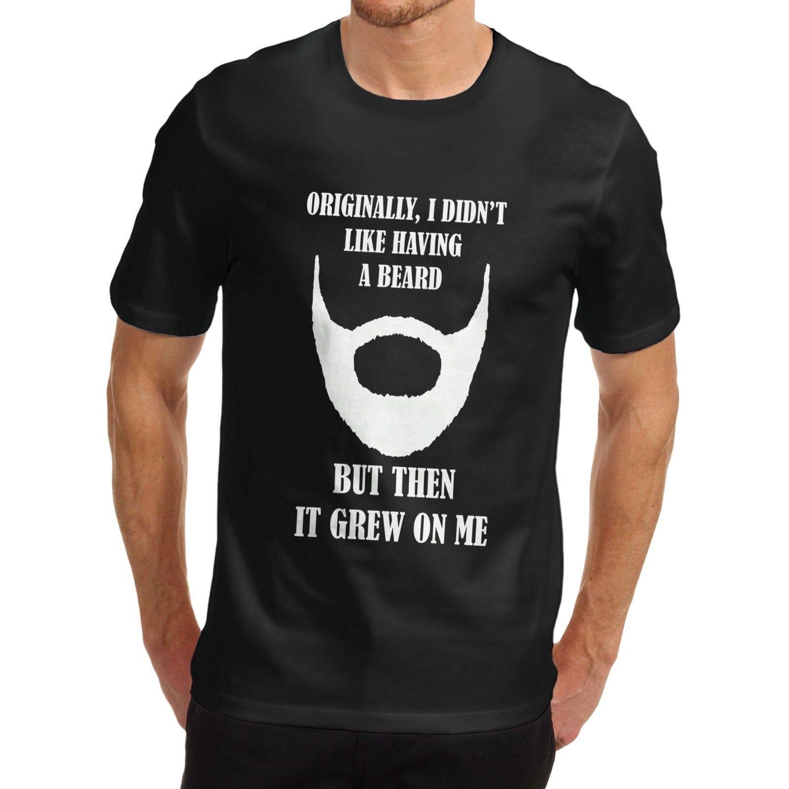Design your own t shirt good quality - T Shirt High Quality Men Cotton Novelty Design Gift Idea Beard Grew T Shirt Loose Cotton