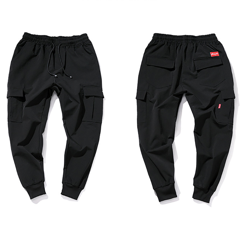 Korean Version Of The Small Foot Cone Type Black Casual Pants Free Ironing Youth Versatile Overalls Trousers Free Shipping