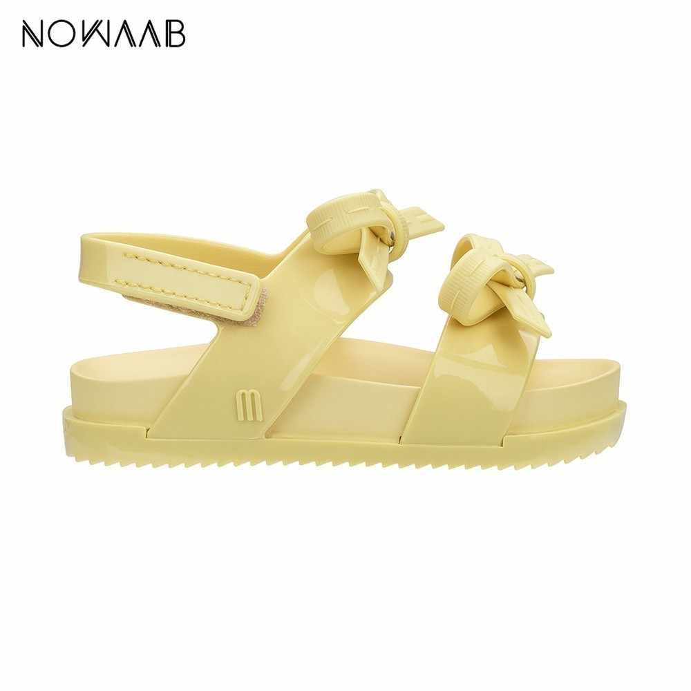 Mini Melissa oryginalny 2019 kosmiczne sandały dziewczyny żelowe sandały łuk dziewczyna księżniczka sandały dla dzieci buty plażowe dla dzieci Melissa dla dzieci