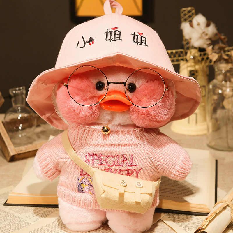 Happy Monkey 30cm śliczne pluszowa lalka zabawki nowy Kawaii puszyste miękkie nadziewane kaczka lalka prezent zabawka dla dzieci dzieci dorośli urodziny
