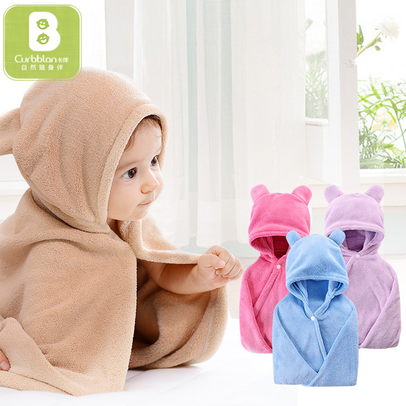 65*110cm Baby Cotton Bath Towel Kid Hooded Bathrobe Baby Newborn Stuff Boys Girls Cartoon Soft Children Infant Beach Bath Towel Convenience Goods Bath & Shower Product Baby Care