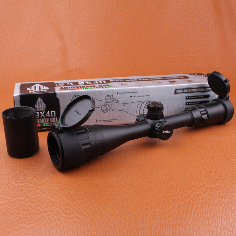 Leapers UTG 3 9X40 AO Tactical optical sight font b Hunting b font RifleScopeFull Size Mil