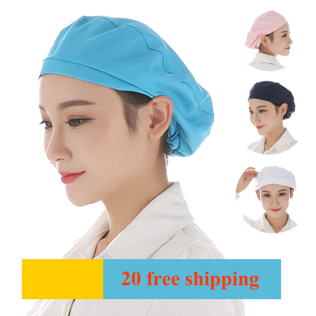 NiaaHinn summer men s and women s food hats catering workshop dust-proof work  cap protective breathable chef hat 5d055c54cd