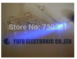 50pcs 5mm led diode Purple Violet UV 3000mcd Water Clear LED,WP5 f5