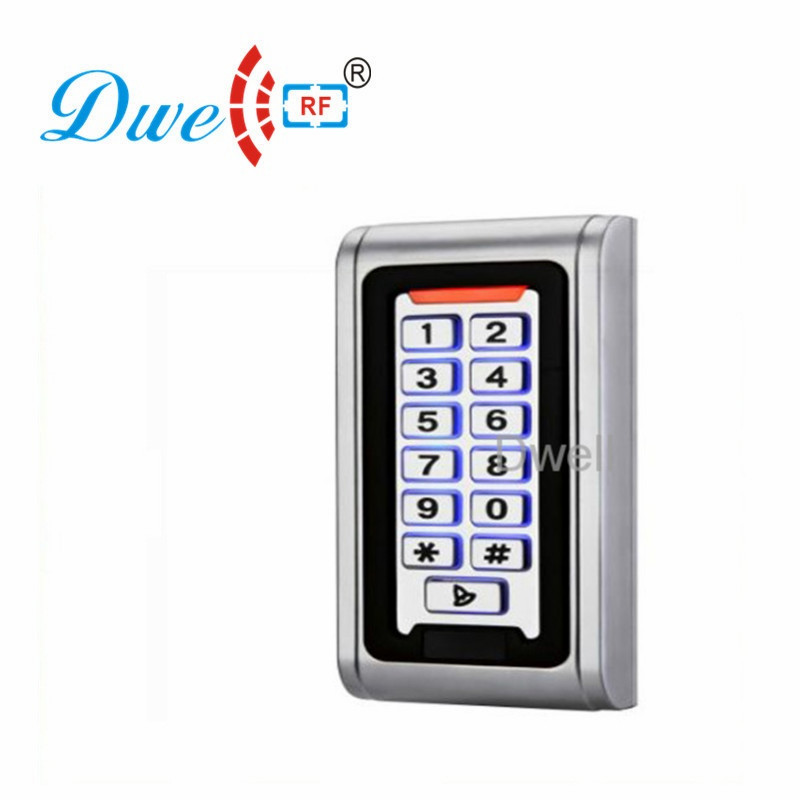 DWE CC RF RFID card reader metal case  waterproof IP68 125khz emid or 13.56mhz mf wiegand 26 for access control system 002O dwe cc rf contactless 125khz rfid plug and play reader with usb interface reading decimal or hexadecimal