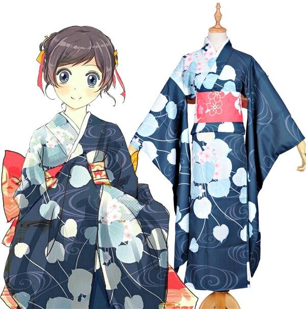 Neue Kleidung Mass Anime Japan Kamisama Kiss Momozono Nanami Kimono Sommer Festival Bademantel Cosplay Kostum In