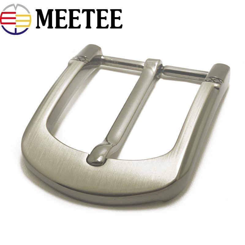 Meetee 35cm Width High Quality Men Belt Buckles Rotating Alloy Pin Buckle Suitable 33-34mm Belt Diy Mens Jeans Accessories Power Source