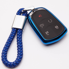 KUKAKEY TPU Remote Car Key Fob Cover Case For Cadillac CT6 ATS CTS XTS SRX XT5 Shell Bag Skin Holder 5 Button 2015-2019