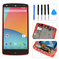 Red LCD Display Touch Screen Digitizer Assembly+Frame +Tools for LG Google Nexus 5 D820 D821 Free Shipping+Tracking No.