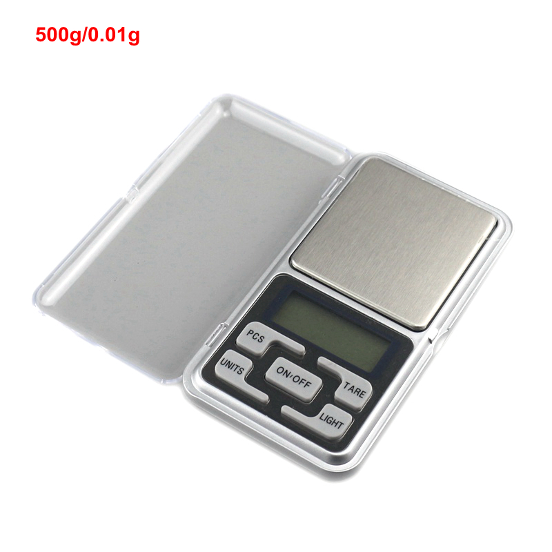 500g 0.01g Libra High Accuracy Electronic Jewelry Scale Digital Pocket Scales Weighing Balance with Stainless Steel Tray