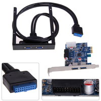 High Quality 2 Port USB 3 0 PCI Express Card 3 5 Motherboard Floppy Disk Bay