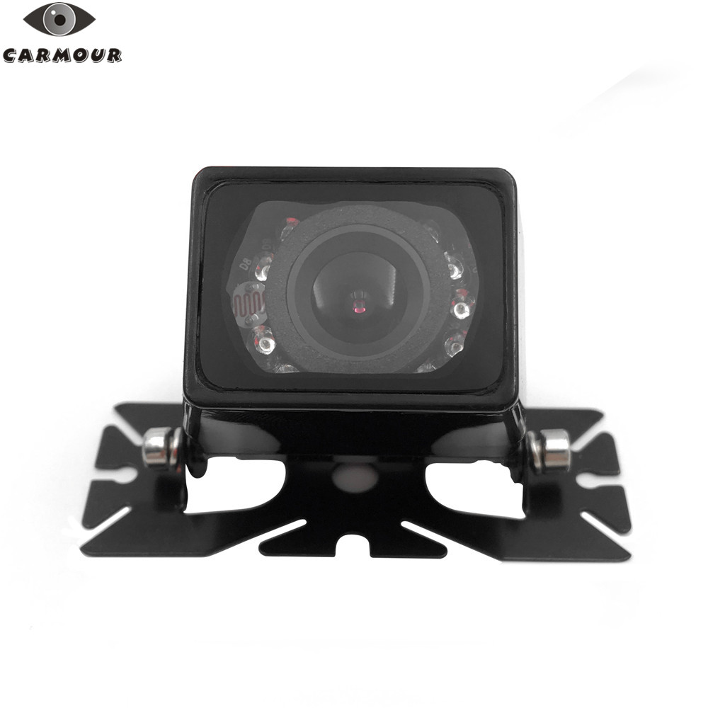 CARMOUR Waterproof Wired Square 9 LED  420TVL Car Rear View Parking Reverse Backup Camera Night Vision Vehicle Camera