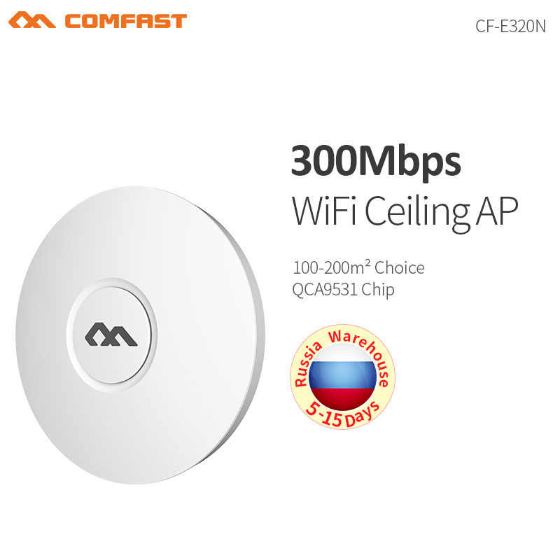 Comfast® Indoor Wireless WIFI Extender Repeater AP 300Mbps Business Router WiFi