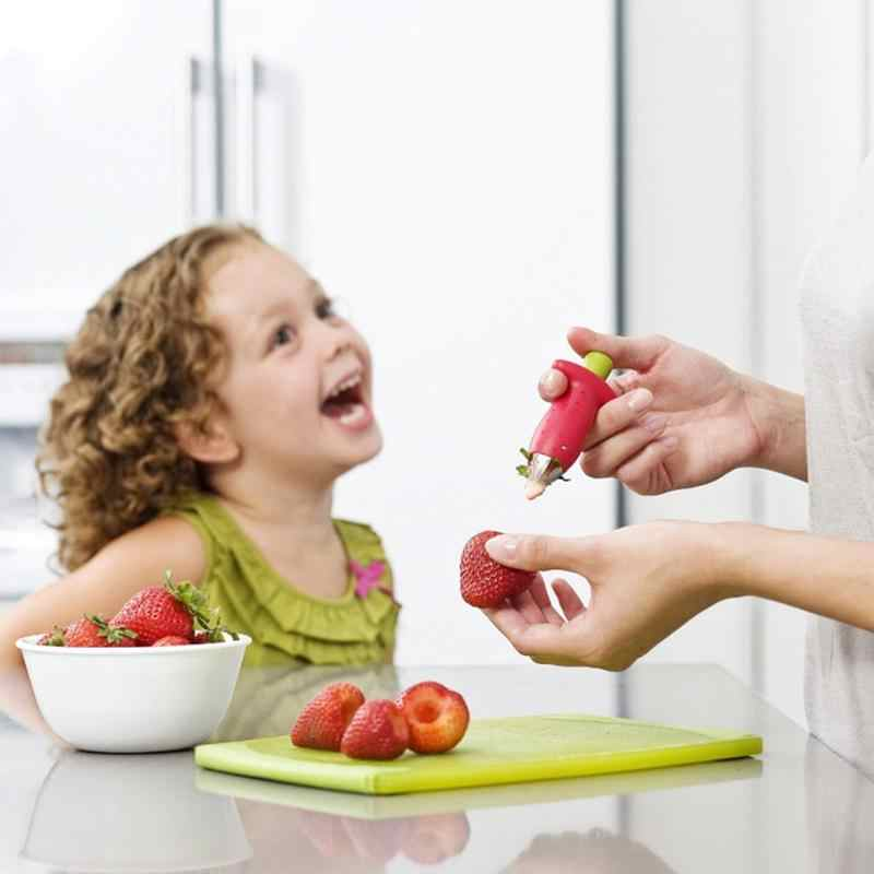 Красный инструмент для удаления чашелистиков с клубники детские инструменты для кормления металлические томатные стебли пластиковые фрукты детское питание Шеллер детские пищевые мясорубки инструменты для кормления