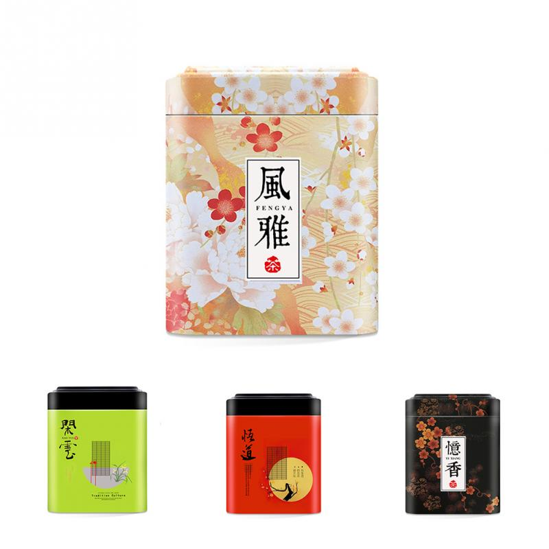 Retro Chinese Tea Caddies Iron Tin Box for Candy Biscuit Cookie ...