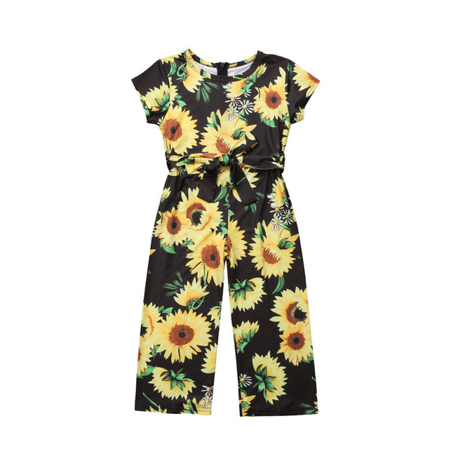 e572e1a47e95 2018 New Baby Girls Clothing Infant Baby Girls Floral Short Sleeve Summer  Jumpsuit Romper Clothes Outfits