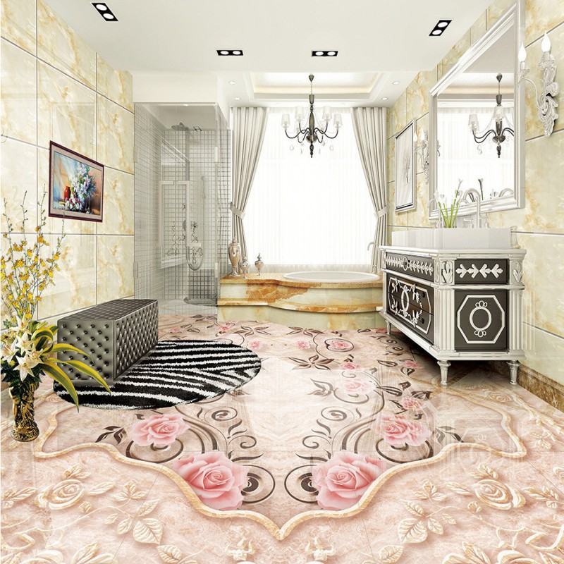 Free shipping Marble patterned parquet 3D floor custom flooring moisture proof non-slip living room bedroom wallpaper mural 3d printing claybank marble pattern non slip floor carpet