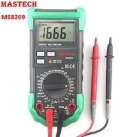 MASTECH MS8269 цифровой мультиметр AC DC Вольт Ампер Ом Кепки метр-20 ~ 1000C термометр K Тип термопары авто Мощность off