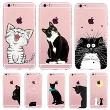 Cartoon Cat Phone Case Cartoon Soft TPU Silicone Clear Cases