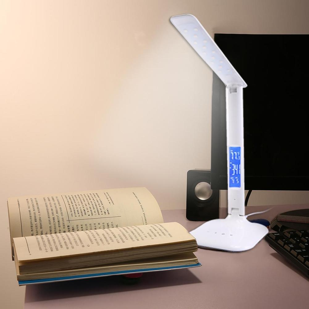 AKDSteel Creative Folding LED Desk Light Eye-caring Dimmable Touch Control LCD Calendar Reading Table Lamp TH джинсы lee р 31 33 int