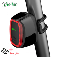 Bicycle Light Meilan X6 Smart Bike Light Bicycle Rear Back Led Light Usb Rechargeable Seatpost Cycling