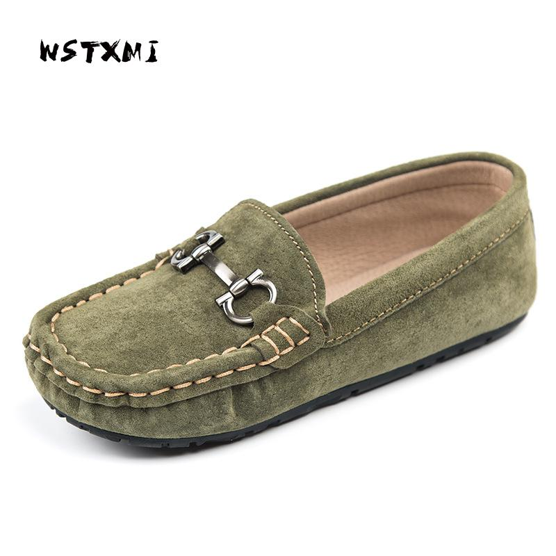 Children Genuine Leather Shoes for Boys Loafers Moccasins Girls Casual Slip-on Flats Autumn Sneakers Soft Bottom(Big/Little Kid) girl and boy loafers shoes sneakers slip on girls winter kid casual boys shoe black breathable children flats sporting shoes