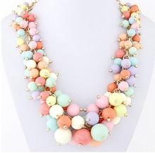 Bohemian Bead Necklaces&Pendants Maxi collares collier Vintage colar Jewelry bijoux Statement Necklace for Women 618