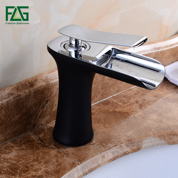 High Quality Water Saver Brass Single Hole and Single Handle Waterfall Basin Mixer Tap Faucets, Antique Bathroom Faucet wholesale and retail free shipping chrome brass big waterfall bathroom basin faucet single handle hole sink mixer tap