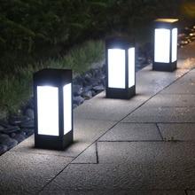 Thrisdar Водонепроницаемый светодиодный светильник на солнечных батареях, уличный дверной забор, солнечный светильник для двора, виллы, сада, крыльца, клеймо-светильник