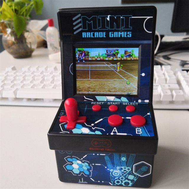 Mini Arcade Game Retro Machines for Kids with 200 Classic Handheld Video Games Portable Gaming System for Childrens Tiny Toys
