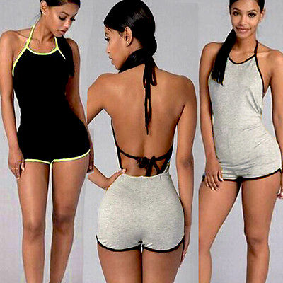 81ac0db437b0 2018 New Sexy Sleepwear Women Ladies Clubwear Playsuit Bodycon Party Romper  Trousers Casual Sleep Sets