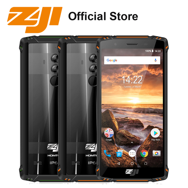 HOMTOM ZOJI Z9 5500mAh 6GB 64GB IP68 Waterproof Mobile Phone Helio P23 Heart Rate Android 8.1 5.7'' Fingerprint 4G Smartphone