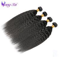 קינקי ישר שיער ברזילאי שיער Weave חבילות 4 יחידות NonRemy גס יקי Weave שיער חבילות Yongtai מוצר שיער משלוח חינם