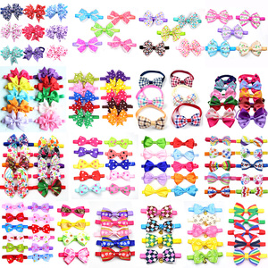 Image 1 - 120pcs Mixed Styles Pet Puppy Dog Cat Bow Ties/Bowties Adjustable Dog Grooming Bows Accessories Dog Ties Pet Products