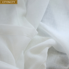 CITYINCITY Tulle White Curtains for bedroom Soft Japan Style Curtains for Living room Fresh Breath Voile