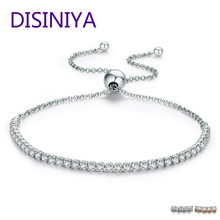 DISINIYA  Featured Brand DEALS 925 Sterling Silver Sparkling Strand Bracelet Women Link Tennis Jewelry SCB029