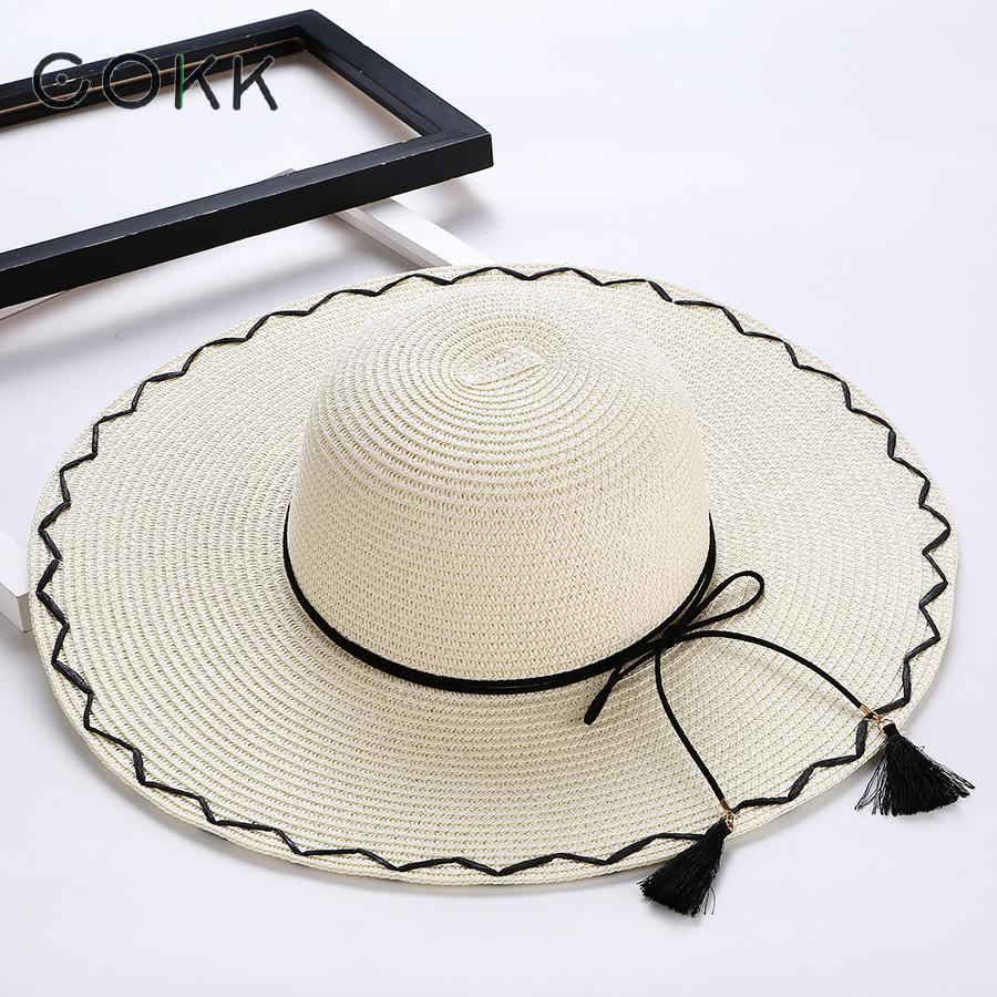 Cokk Sol sombrero sombreros de verano para las mujeres grandes de ...