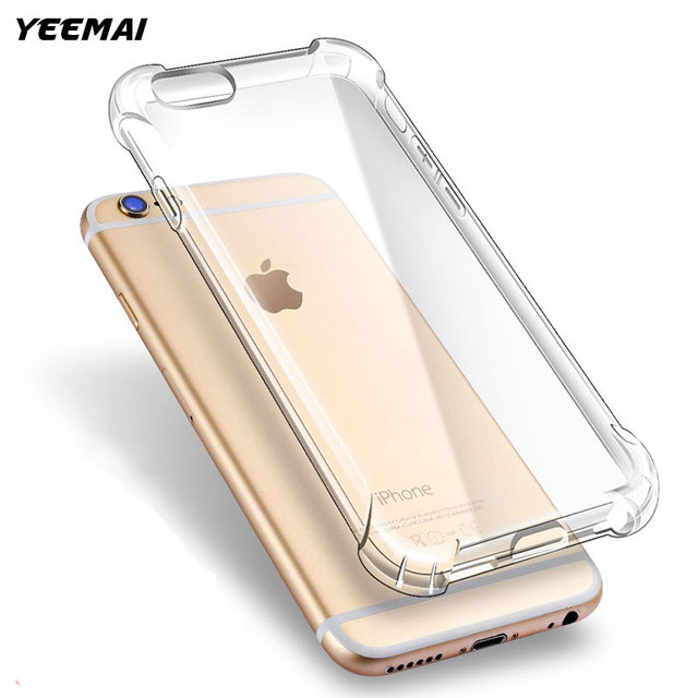 Armor Phone Case For iPhone 7 6 8 6S 7 Plus X Shockproof Impact Cover For iPhone 5 5S SE Clear Soft TPU Silicone Protective Capa
