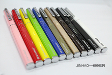 Promotion Jinhao 699 Fashion Colorful 0.38 mm 0.5mm  Metal Fountain Pen Extra Fine Nib Ink Pens for Christmas Gift Free Shipping